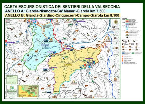 Carta escursionistica dei sentieri della Valsecchia